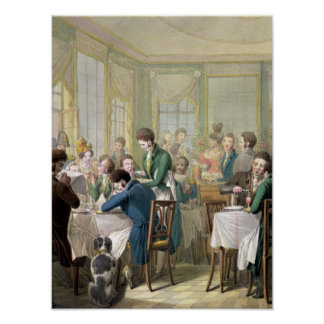 The Restaurant in the Palais Royal, 1831 Poster