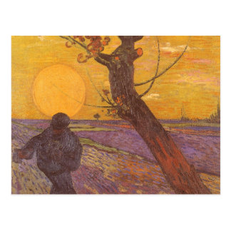 The Sower by Vincent van Gogh, Vintage Fine Art Postcard