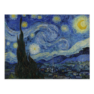 The Starry Night - Van Gogh (1888) Postcard