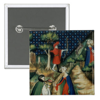 The Story of Procris, from `De Claris 2 Inch Square Button