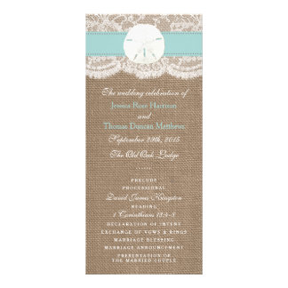 The Turquoise Sand Dollar Wedding Collection Custom Rack Card