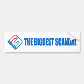 The US Government Scandal Bumper Sticker