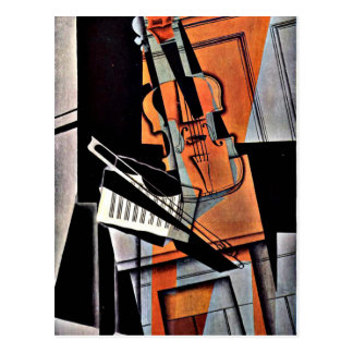 The Violin - Abstract Painting by William Harnett Postcard