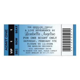 The VIP Ticket Birthday Invitation (Blue)