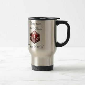 They See me rollin gear 15 Oz Stainless Steel Travel Mug