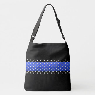 Thin Blue Line Stars Universal Police Symbol Tote Bag
