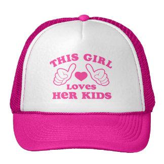 This Girl Loves Her Kids Trucker Hat