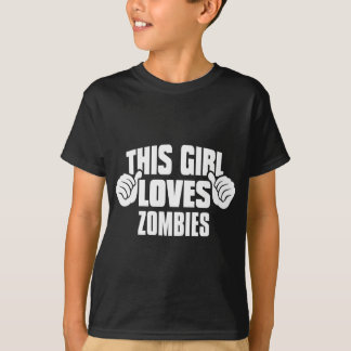 This Girl Loves ZOMBIES Tee Shirt