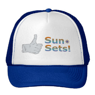 Thumbs Up Sunsets! Trucker Hat