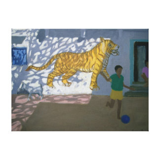 Tiger India Stretched Canvas Prints
