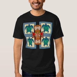 Tiki Mask Turtle Tshirt