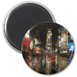 times square mosaic 2 inch round magnet