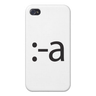 tongue touching nose.ai iPhone 4/4S covers