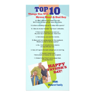 Top 10 Father's Day Photo Invitation Card Photo Card Template