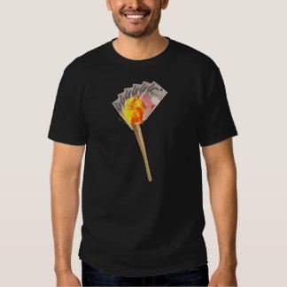 Torche olympique de honte tee shirts