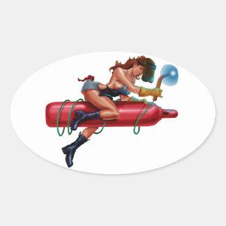 Torchin Oval Sticker