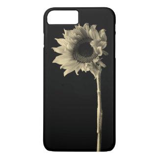 Tournesol - photographie monochrome de beaux-arts coque iPhone 7 plus