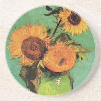 Tournesols de Van Gogh 3 en beaux-arts de cru de Dessous De Verres