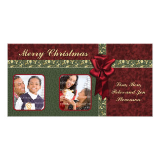 Traditional Christmas Design Customized Photo Card