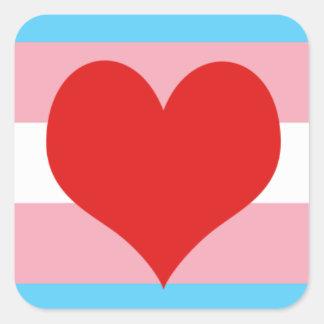 Transgender Pride Square Sticker
