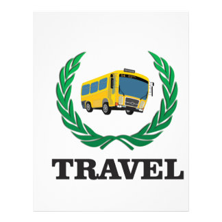 travel bus personalized letterhead