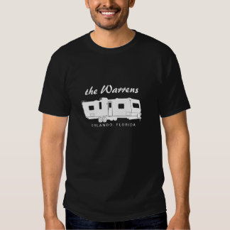 Travel Trailer RV Silhouette Graphic T Shirts