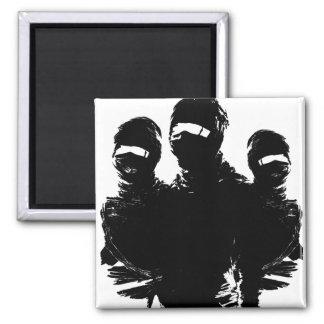 tres ninjas square magnet
