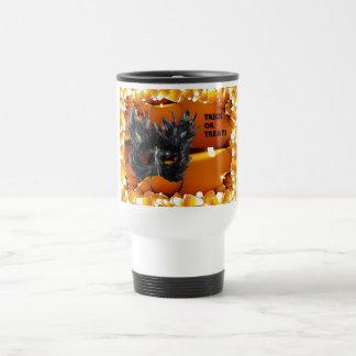 Trick or Treat Gothic Mask 15 Oz Stainless Steel Travel Mug