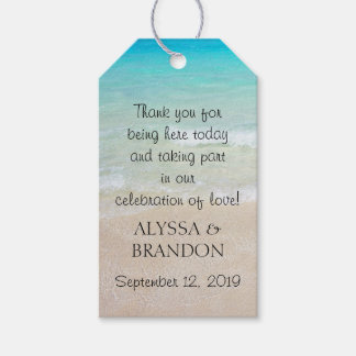 Tropical Ocean Wedding Thank You Favor Tags Pack Of Gift Tags