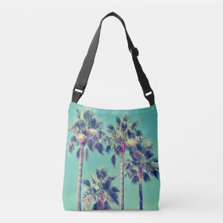 Tropical Palm Trees against a Teal Sky Tote Bag