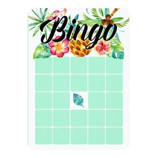 "Tropical Watercolor Bingo Cards 5"" X 7"" Invitation Card"