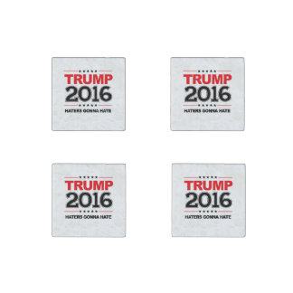 TRUMP 2016 - Haters Gonna Hate Stone Magnets