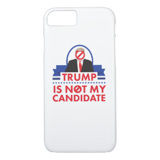 Trump Not My Candidate iPhone Case