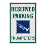 Trumpeters Parking Poster