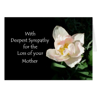 Tulip Sympathy Card - Loss of a Mother
