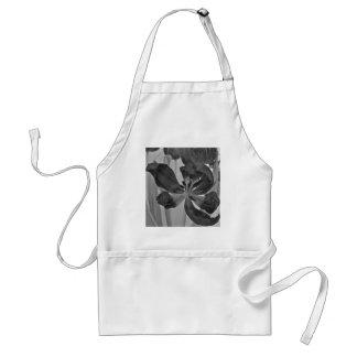Tulipe dans le tablier noir et blanc