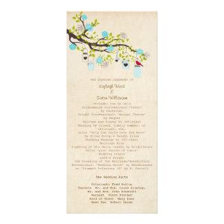 Turquoise Blue Bliss Wedding Program Rack Cards