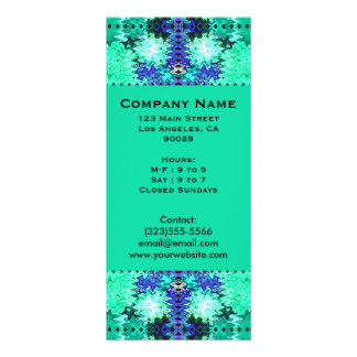 turquoise green blue rack card template