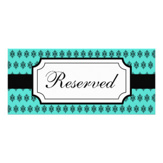 Turquoise Reserved Seating Card Full Color Rack Card