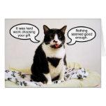 Tuxedo Cat Birthday Humour Card