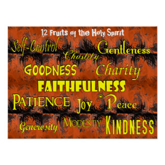 Twelve Fruits of the Holy Spirit (TOP) Poster