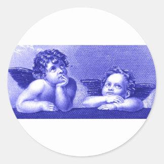 Two Cherubs Round Sticker