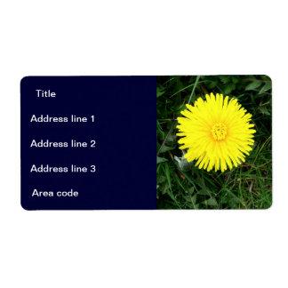 Two Dandelions Custom Wedding Address Labels
