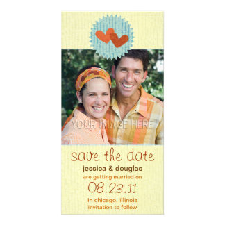 Two Hearts Save the Date Photo Cards