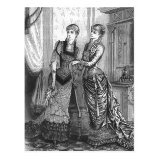 """Two Victorian Ladies"" Fashion Illustration Postcard"