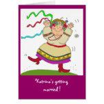 Ukrainian Girl Bridal Shower Greeting Card