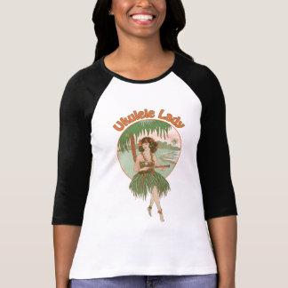 Ukulele Lady #1 Ladies 3/4 Sleeve Raglan T-shirts