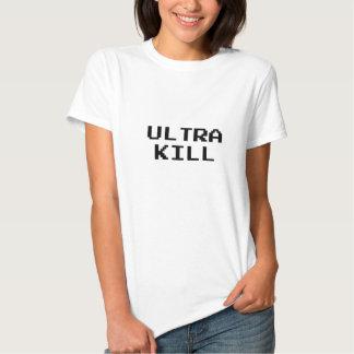 Ultra Kill Video Game Font T-shirts