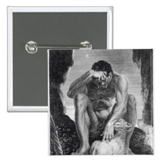 Ulysses Escaping from Polyphemus the Cyclops 2 Inch Square Button