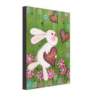 Un certain lapin vous aime - art de mur d'enfants toiles tendues